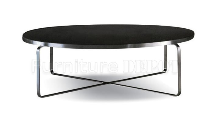 Options Of Black Glass Or Wenge Wood Top Modern Black Round Coffee Tables Large Round Coffee Table Accent Tables (Image 7 of 10)