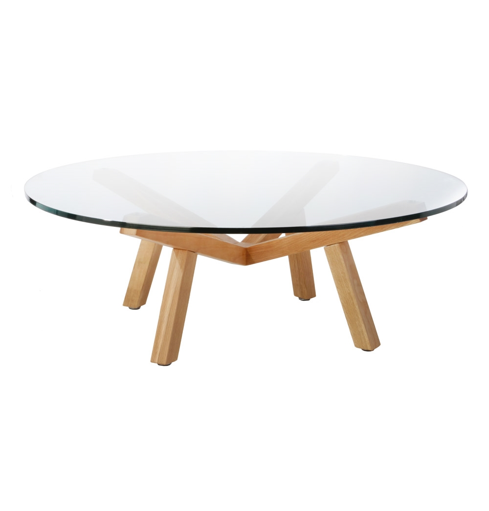 10 collection of small glass round coffee tables