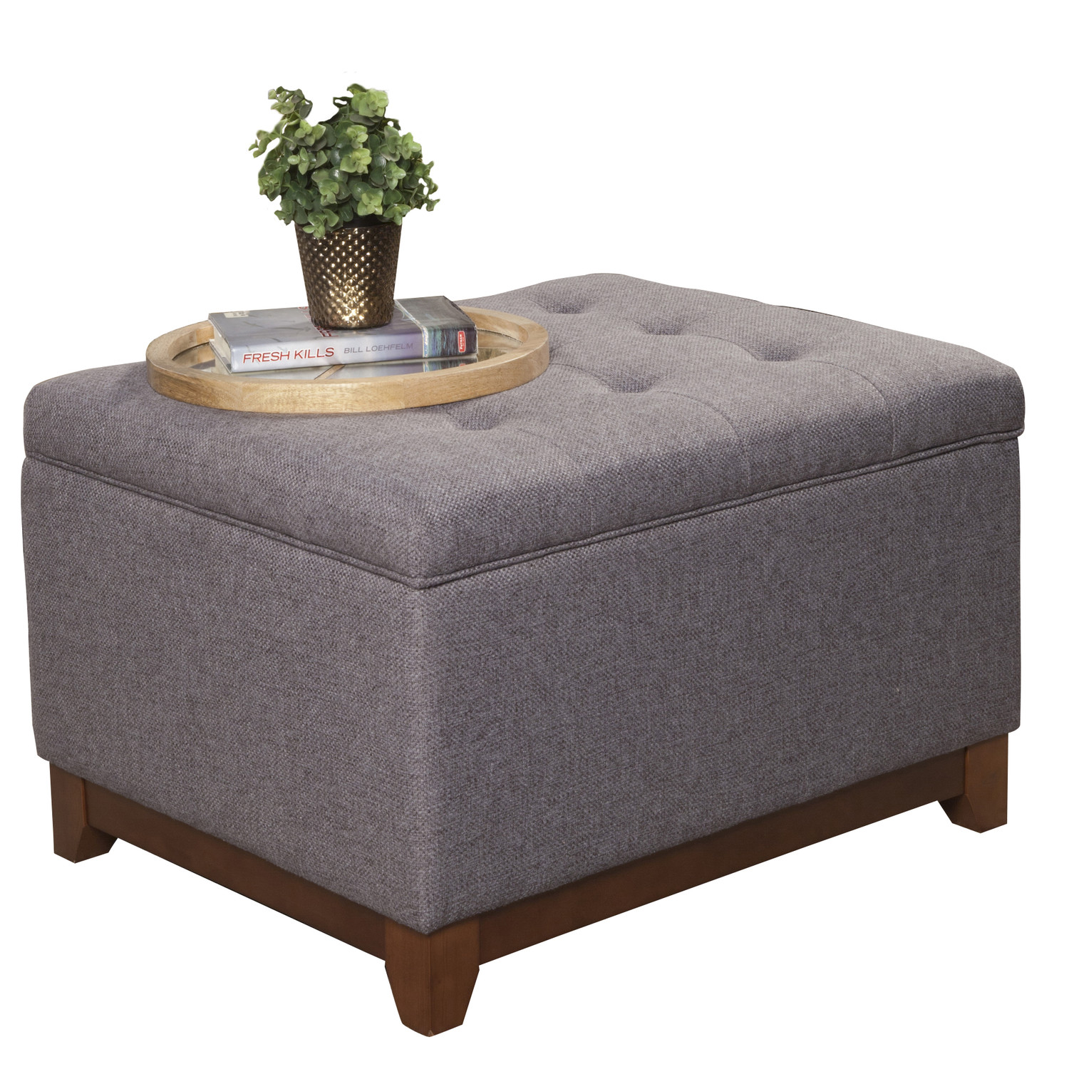 Ottomans And Poufs Round Upholstered Ottoman Coffee Table Upholstered Storage Cocktail Ottoman Large Cocktail Storage Ottoman (View 6 of 10)