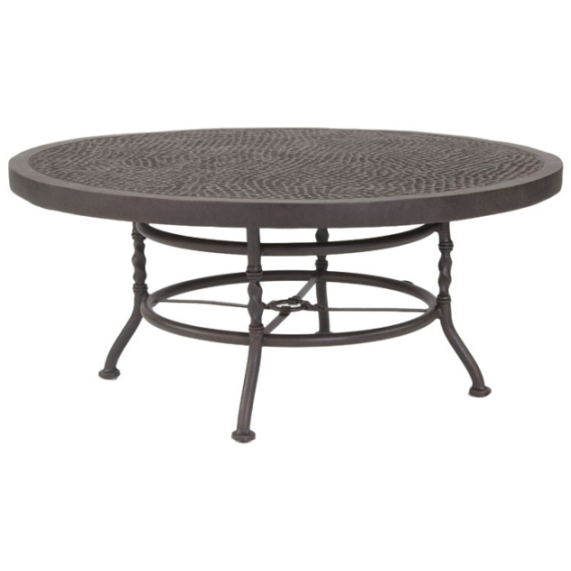 Outdoor Coffee Table Round Sunnyland Patio Round Outdoor Coffee Table Getting The Perfect Outdoor Coffee Table (Image 8 of 10)