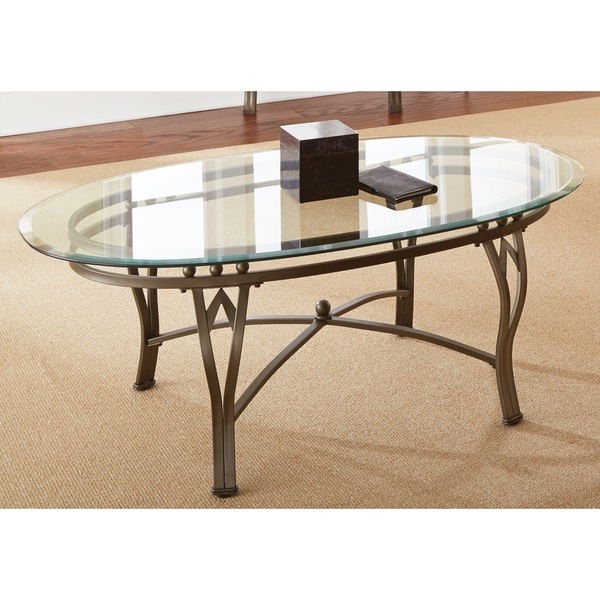 Oval Glass Top Coffee Tables Greyson Living Maison Glass Top Oval Coffee Table (View 6 of 10)
