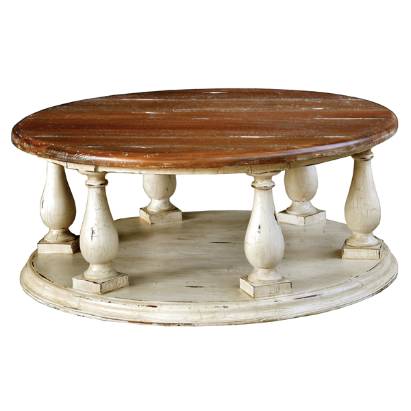 Painted Coffee Tables Country Coffee Table Distressed Round Coffee Table Distressed Wood Round Coffee Tables (Image 5 of 10)