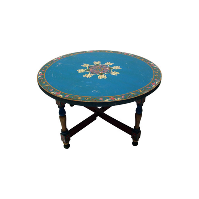 Painted Round Coffee Table Round Painted Coffee Table Painted Coffee Tables Painted Furniture Painted End Tables (View 6 of 10)