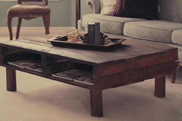 Pallet Coffee Table Rustic Coffee Table From Wooden Rustic Coffee Table Legs Ideas 2016 (Photo 3 of 10)