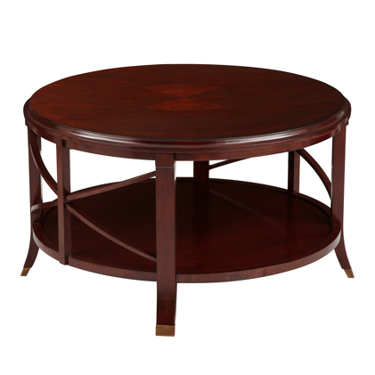 pavilion-coffee-table-antique-mahogany-wooden-round-mahogany-coffee-table-red-mahogany-coffee-table (Image 6 of 10)