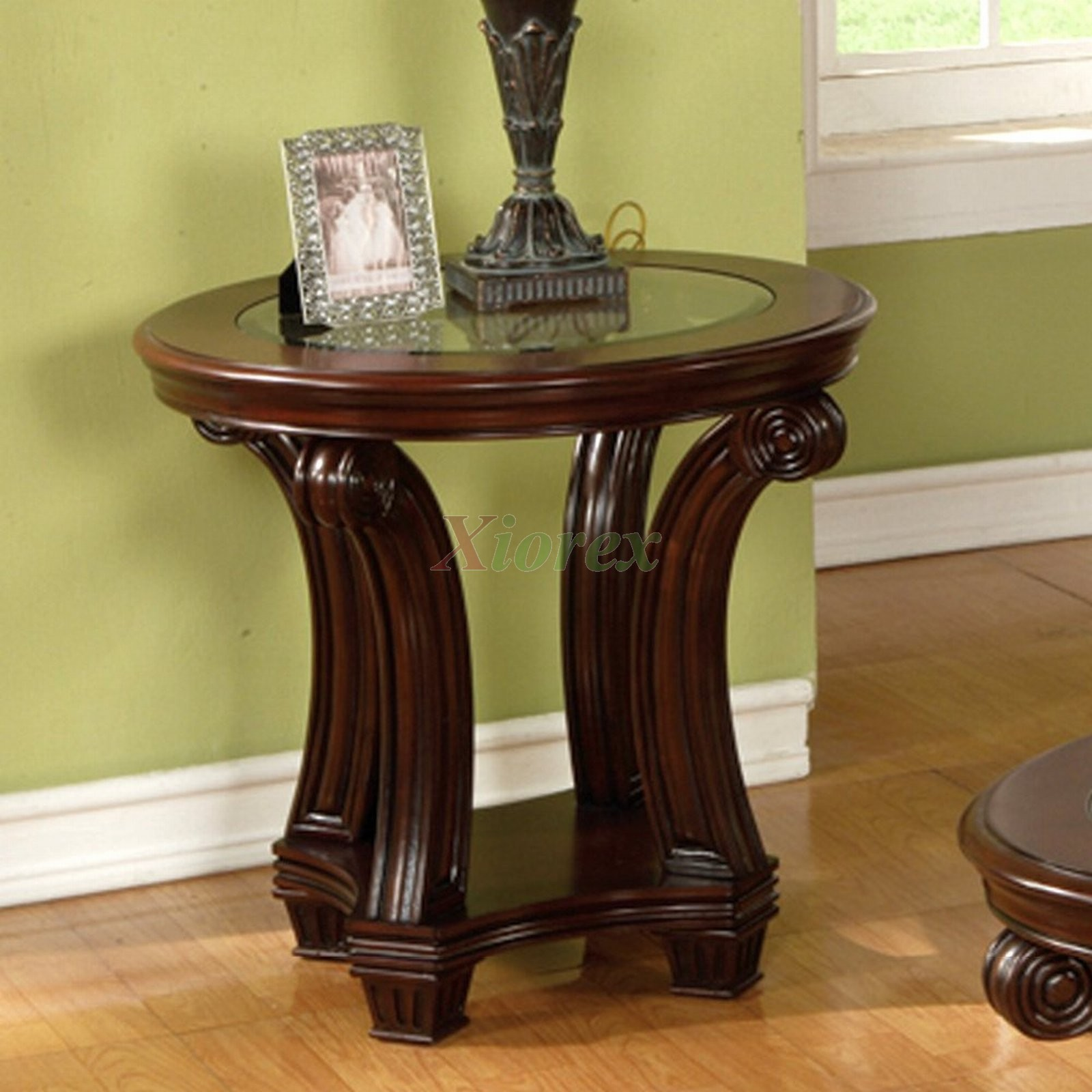 Perseus Round End Table Living Room Furniture Round Coffee And End Table Sets Small Round Coffee Table Sets (Image 8 of 10)