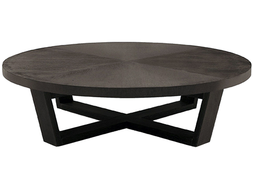 Pittsburgh Home Furnishing Contemporary Coffee Table Brown Round Coffee Table Solid Wood Hand Carved Accent Coffee Table (View 7 of 10)