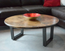 Popular Items 36 Inch Round Coffee Table Steel Legs Industrial Table Coffee Table Rustic 36 Round Coffee Table (Image 8 of 10)