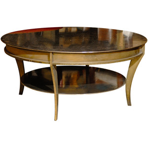 Possibly Mid Century Round Mixed Metal Coffee Table Round Iron Coffee Table Round Coffee Table Iron Base (Image 2 of 10)