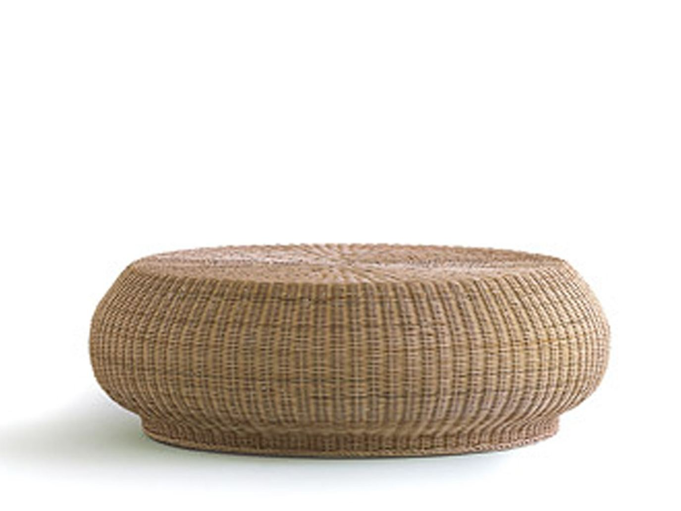 Prodotti Torrey All Weather Wicker Round Coffee Table Natural Low (Image 2 of 8)