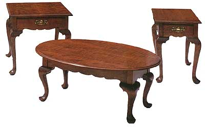 Queen Anne Coffee Table Set The Change In Design Style Also Brought A Change In Wood Choices Walnut Maple And Rich Cherry Woods Were Now Being Used Instead (Image 3 of 10)