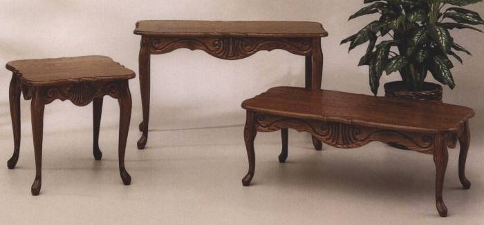 Queen Anne Coffee Table Set This Type Of Table Leg Bows Outward In A Gentle Curve At The Mid Point Marble Knee And It Has An Inward Curve At The Ankle (Image 9 of 10)