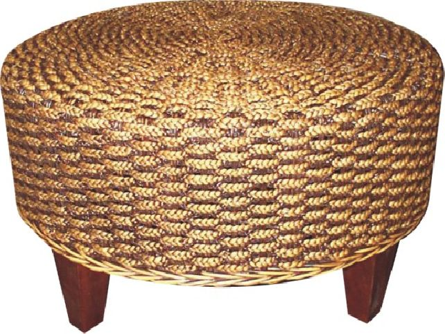 Random Photo Gallery Of Unique And Exotic Seagrass Coffee Table Seagrass Coffee Table Round Seagrass Ottoman Coffee Table (Image 4 of 10)