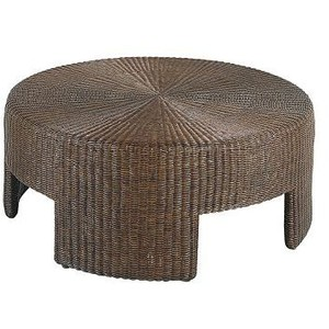Rattan Round Coffee Table 48 Inch Wicker Round Coffee Table By Hickory Chair Furniture Round Wicker Coffee Table Design (Image 3 of 10)
