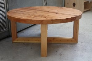 reclaimed-oregon-pine-coffee-table-round-pine-coffee-table-contemporary-pine-wood-living-room-furniture-2016 (Image 4 of 10)