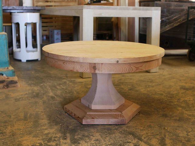 reclaimed-wood-coffee-table-round-rustic-round-coffee-table-distressed-accent-table-coffee-tables-with-storage-space (Image 4 of 10)