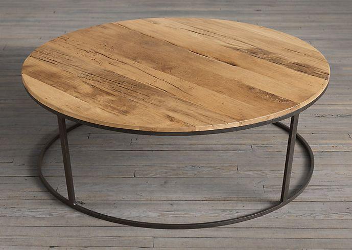 Reclaimed Wood Round Coffee Round Wood Veneer Coffee Table Table Wood Round Coffee Tables Stylish Wood Veneer Coffee Table (Image 4 of 10)