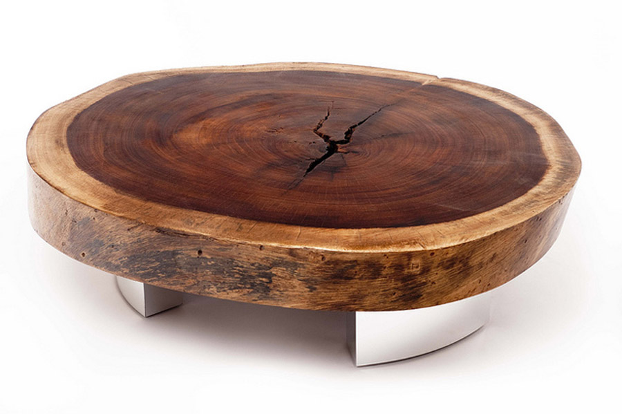 Reclaimed Wood Round Coffee Table Round Wooden Coffee Table Round Coffee Tables Living Room Large Round Coffee Table (Image 5 of 10)