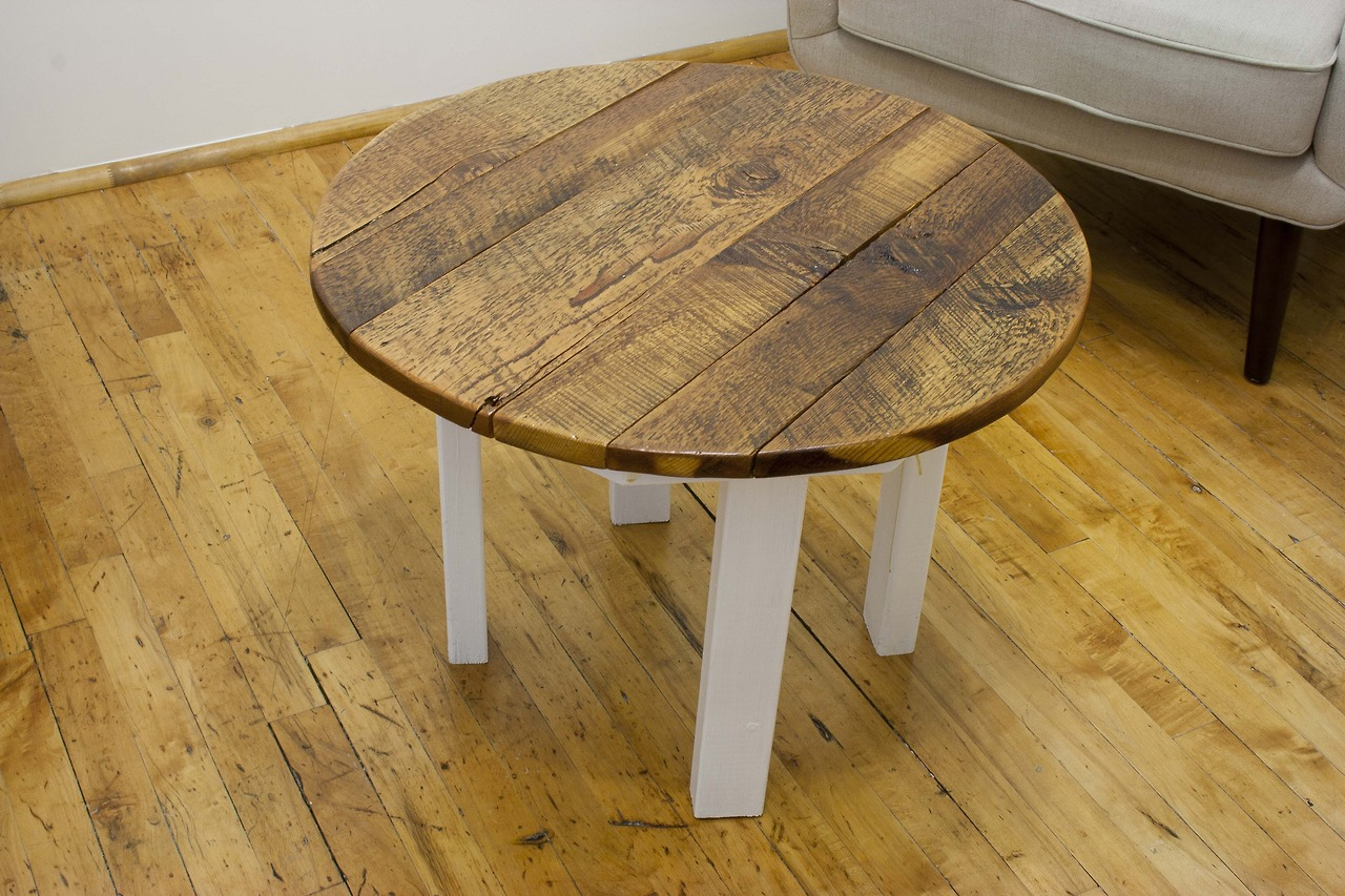 reclaimed-yellow-pine-round-coffee-table-salvaged-yellow-pine-coffee-tables-furniture-round-pine-coffee-table-design-ideas (Image 5 of 10)