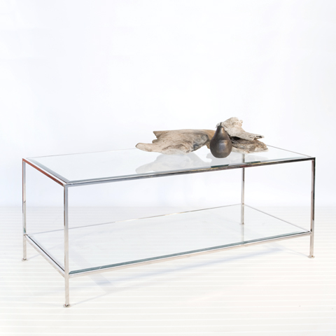 rectangular-glass-coffee-tables-rectangular-occasional-table-features-a-frame-crafted-from-solid-and-tubular-steel-and-features-a-clear-inset-of-beveled-glass (Image 7 of 10)