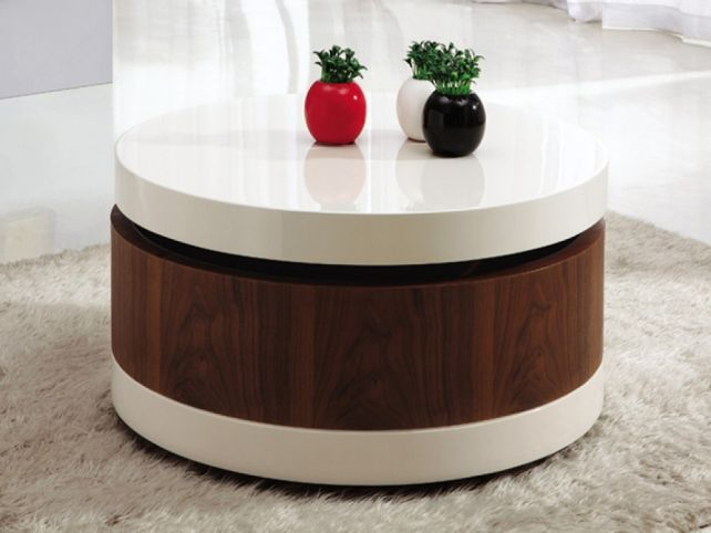 Redoubtable Round Coffee Table With Storage Round Coffee Table Storage End Tables With Storage Space Storage End Tables (Image 4 of 10)