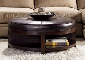 Round Modern Wood Coffee Table Reclaimed Metal Mid Century Round Natural Diy Padded Large Ottoman Leather Ottoman Coffee Tables (View 7 of 10)