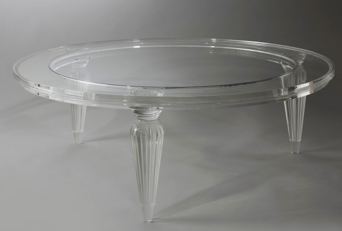 Round Acrylic Coffee Table Because The Industrial Are Available In Revolution Many Aspects Was Come Also Stick To The Phenomena While You Will Find Some Technology (View 7 of 10)