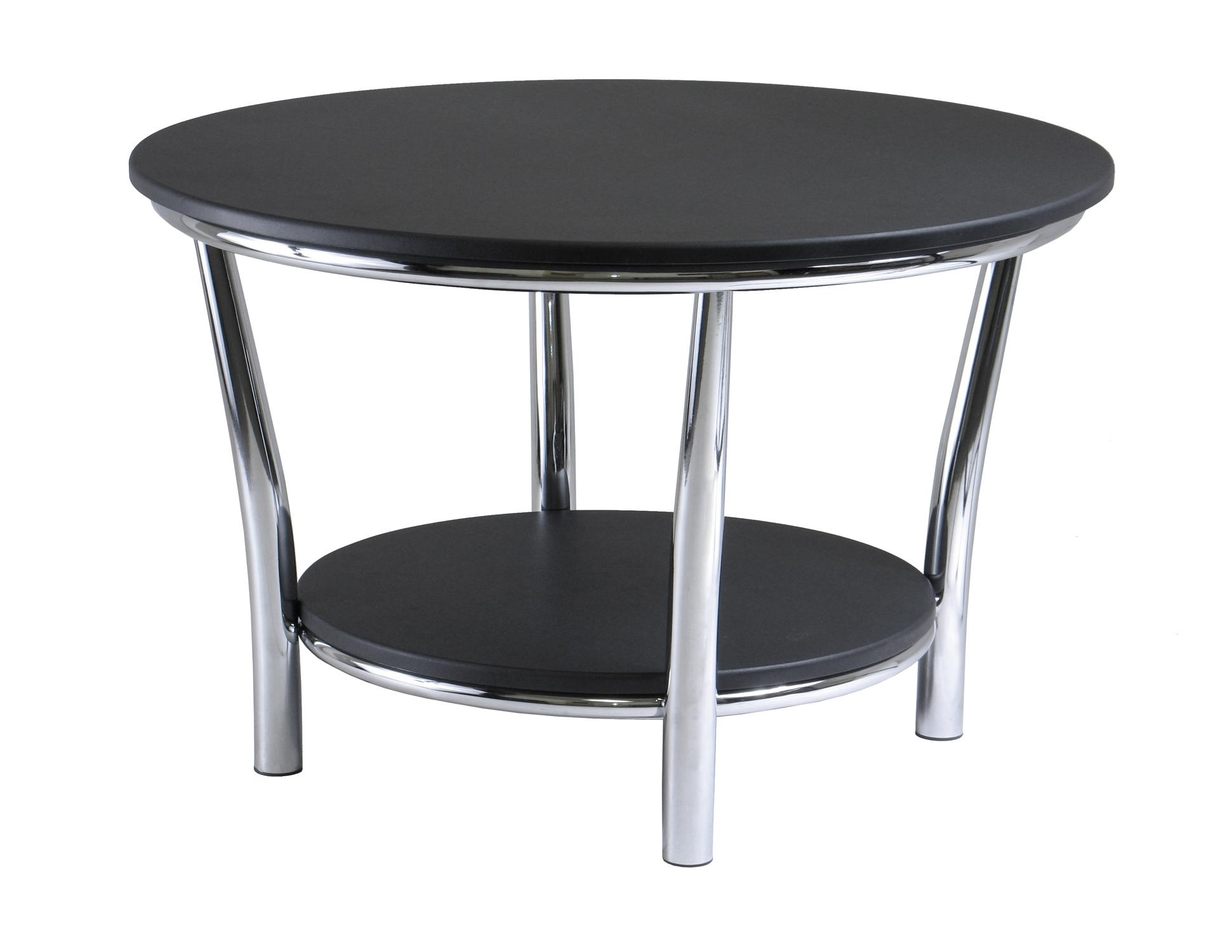 The Best Contemporary Round Black Coffee Table with Storage