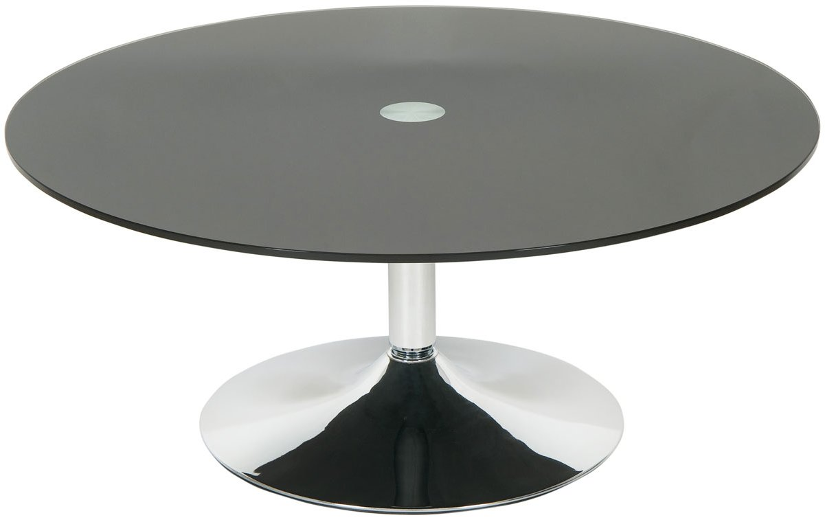 Round Black Glass Coffee Table Home Design Round Dark Wood Coffee Table Black Round Coffee Table Set Chrome Circle Leg (Image 9 of 10)