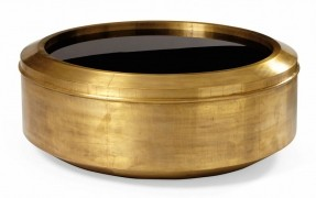round-brass-coffee-table-bernhardt-interiors-round-metal-cocktail-table-metal-base-in-patinated-brass-bernhardt-hospitality-diam (Image 8 of 10)