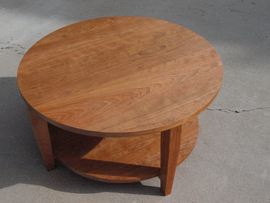 round-cherry-coffee-table-cherry-round-coffee-table-cherry-wood-coffee-table-round-cherry-coffee-table (Image 3 of 10)