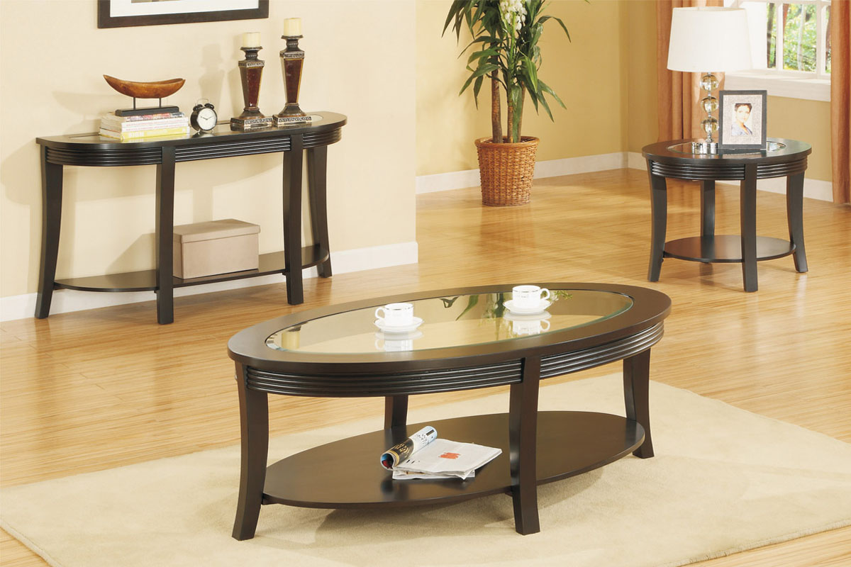 Round Coffee And End Table Sets 3 Piece Coffee Table Set Wooden Glass End Table Coffee Table Sets On The White (Image 9 of 10)