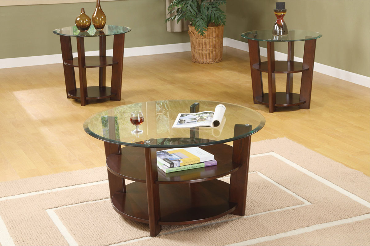 Round Coffee And End Table Sets Round Glass Coffee And End Table Sets Coffee Set Tables Patia Coffee Table Set (Image 10 of 10)