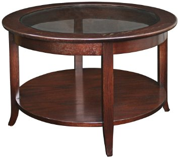 round-coffee-table-brown-wood-and-glass-round-coffee-table-with-storage-round-mahogany-coffee-table (Image 7 of 10)