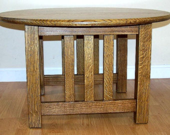 round-coffee-table-craftsman-hand-made-quarter-sawn-mission-oak-inspired-26-color-choice-round-mission-coffee-table (Image 7 of 10)