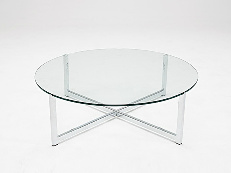 10 collection of small glass round coffee tables for Small glass top coffee table