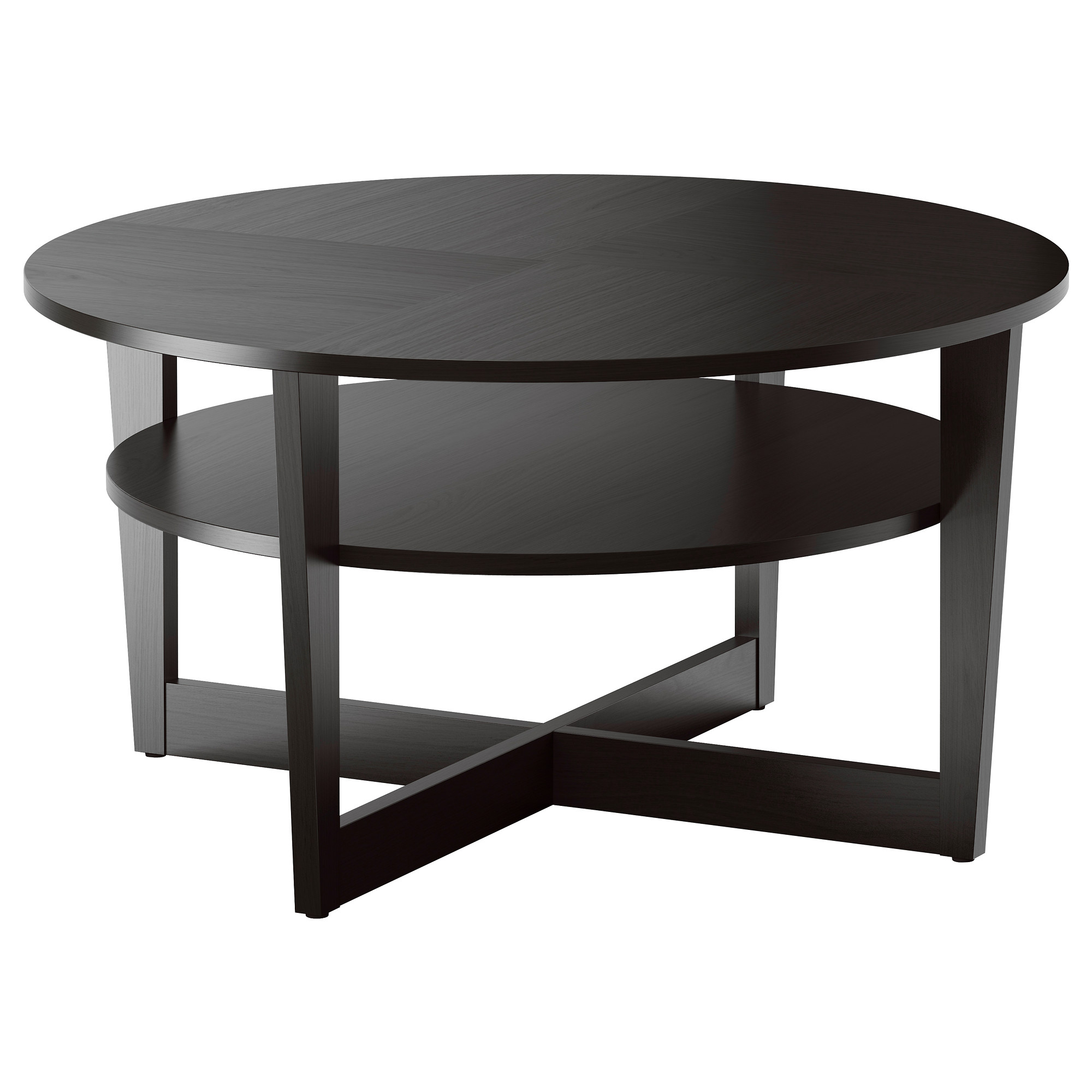 round-coffee-table-ikea-vejmon-coffee-table-black-brown-diameter-35-inch-height-coffee-and-side-tables-furniture (Image 8 of 10)