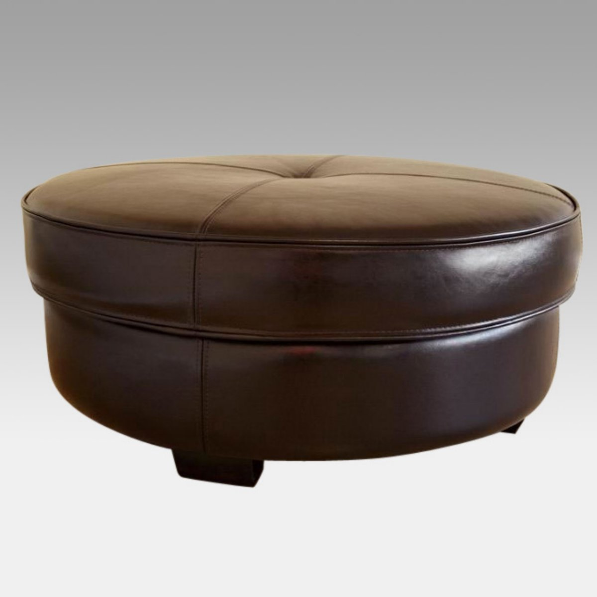 Round Coffee Table Leather Top Round Coffee Table Leather Brown Round Leather Coffee Table (Image 5 of 10)