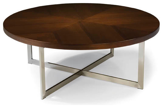 Round Coffee Table Modern Round Cocktail Table From Thayer Coggin Modern Coffee Tables Contemporary Side Tables (Image 8 of 10)