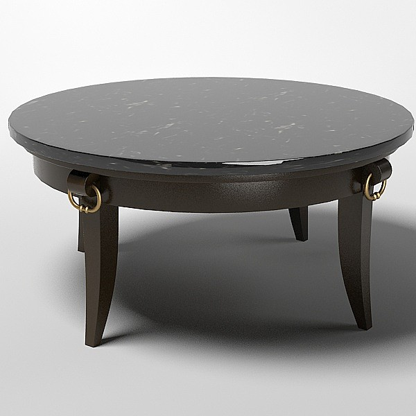 Round Coffee Table Ralph Lauren Stone Top 3ds Coffee Table Ralph Round Stone Top Coffee Table (Image 3 of 10)