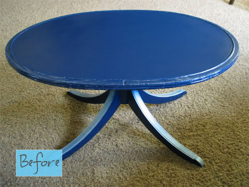Round Coffee Table Painted Tail Tables Square