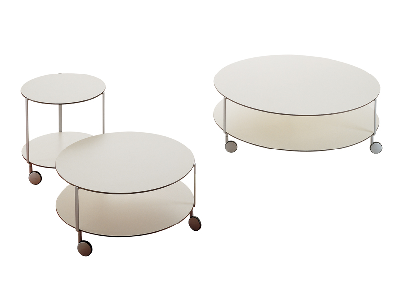 Round Coffee Table With Casters Giro Round Coffee Table With Wheels Coffee Table On Wheels Round Coffee Table With Storage (Image 5 of 10)