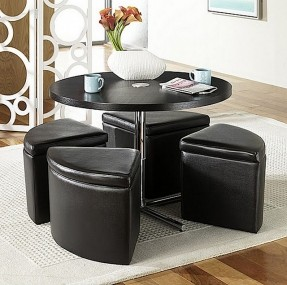 Round Coffee Table With Storage Ottomans Hydraulic Coffee Tables Round Coffee Table With Storage Ottomans Round Coffee Table With Storage (Image 7 of 10)