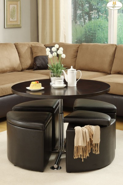 Round Coffee Table With Storage Ottomans Leather Round Ottoman Coffee Table Round Fabric Ottoman Coffee Table Design Furniture (Image 8 of 10)