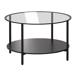 round-coffee-tables-ikea-coffee-table-glass-black-brown-diameter-75-cm-height-45-occasional-tables (Image 6 of 10)