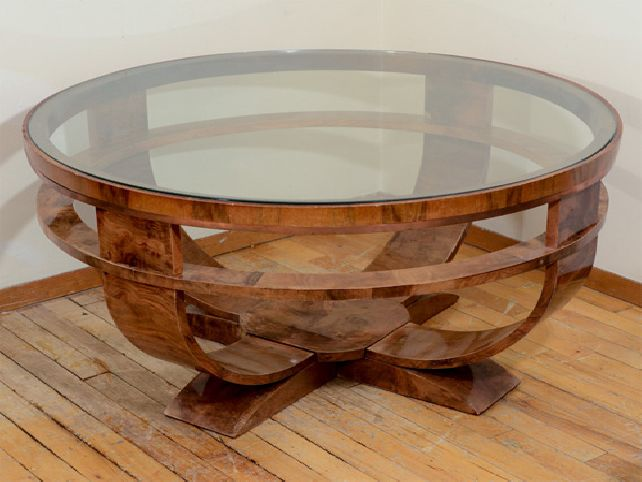 Round Coffee Tables With Glass Top Elegant Wooden With Top Glass Coffee Table Glass Top Round Coffee Table Furniture (Image 5 of 10)