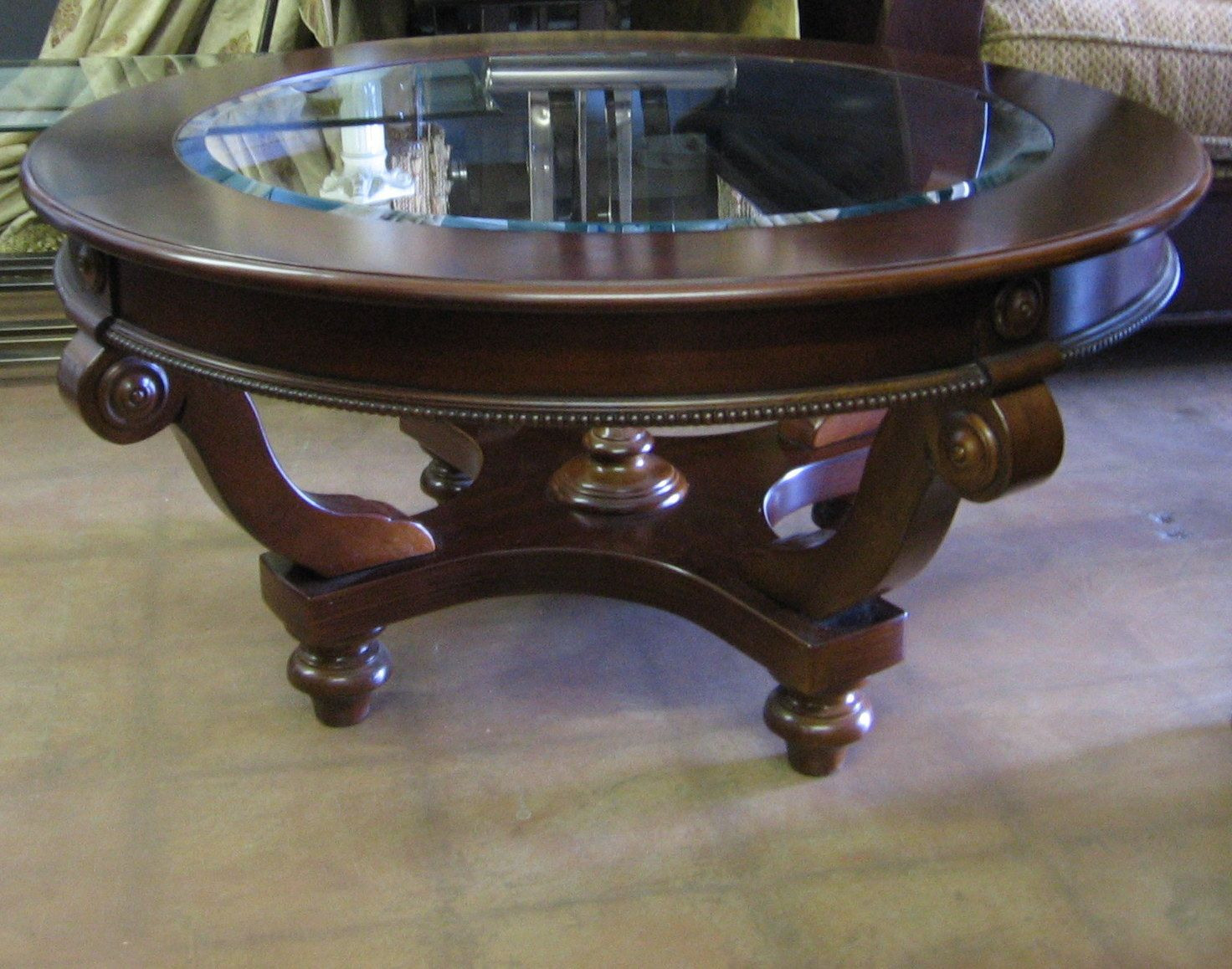 round-dark-wood-coffee-table-gallery-of-home-design-round-dark-wood-coffee-table-dark-wood-oval-coffee-tables (Image 6 of 10)