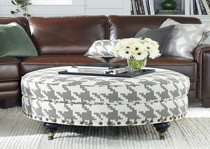 Round Fabric Ottoman Coffee Table Upholstered Ottoman Coffee Table Round Fabric Coffee Tables With Storage Design Ideas (View 4 of 10)