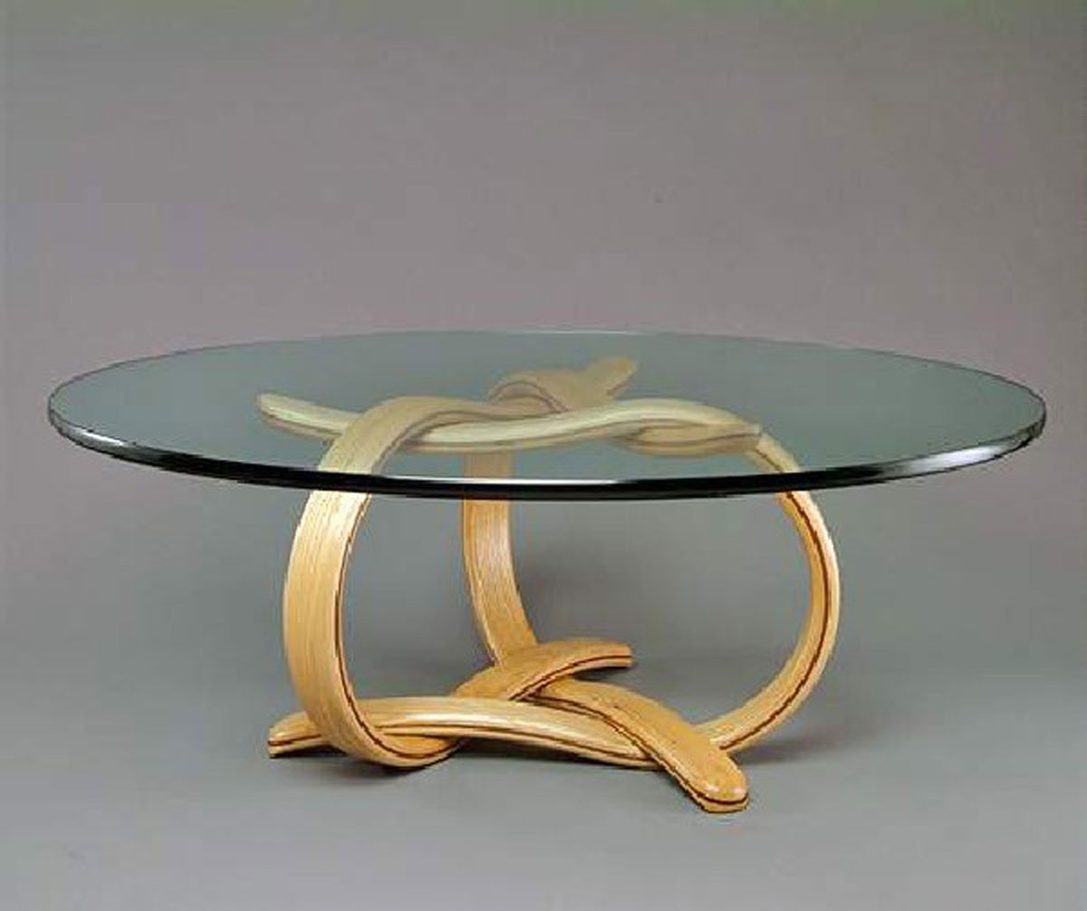 Round Glass And Wood Coffee Table Gallery Round Glass Coffee Tables Round Glass Top Coffee Table (Image 4 of 10)