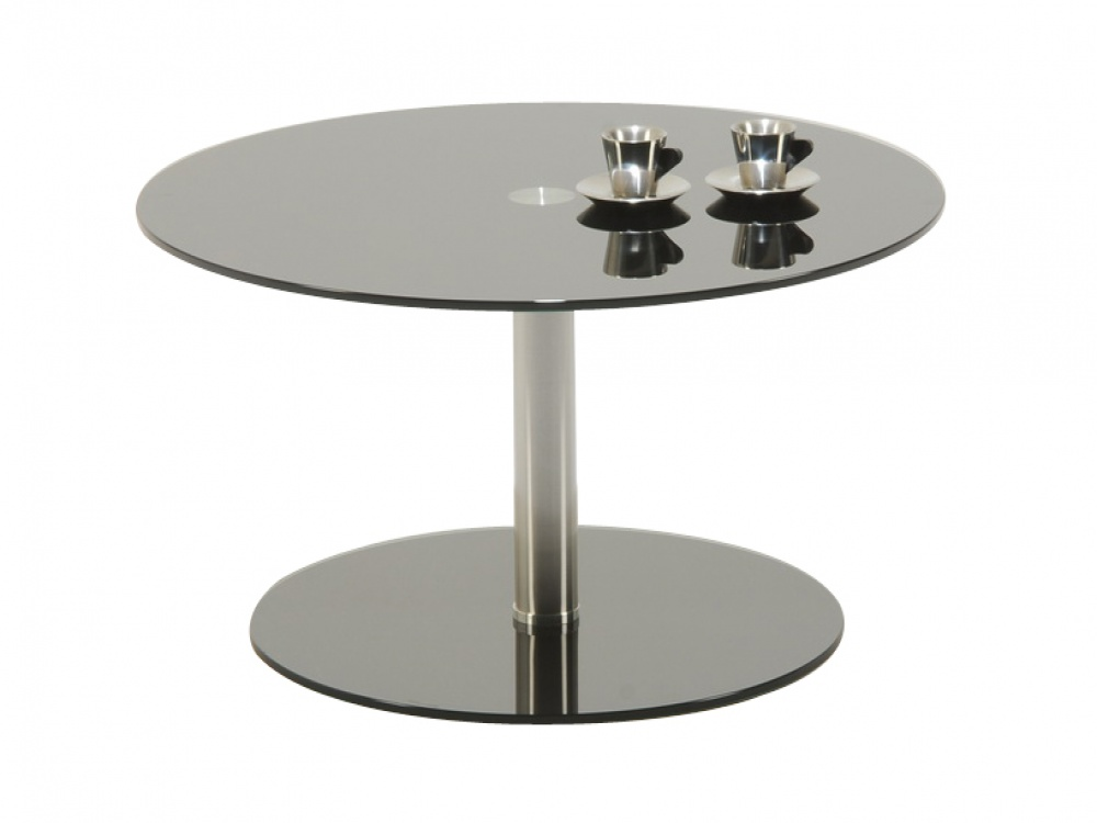 Round Glass Coffee Table For Modern Home Style Round Glass Coffee Tables Chromed Round Glass Coffee Table Ideas (Image 5 of 10)